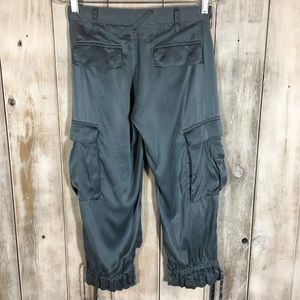 Joie Silk Capri Pants Ankle Ties Size 27